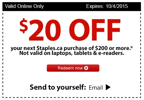 Great Canadian Rebates Blog Save On Your Staples Canada Purchase